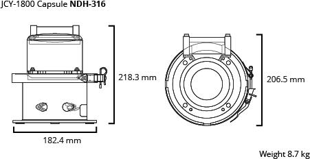 JCY-1800 capsule dim