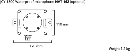 JCY-1800 microphone waterproof dim