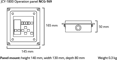 JCY-1800 operation panel dim