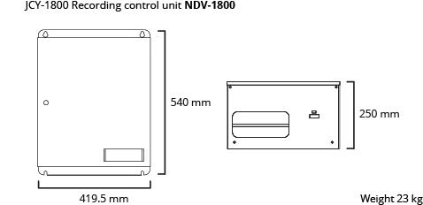 JCY-1800 recording control unit dim